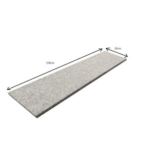 Flamed Grey Step  Natural Grey150x33x2