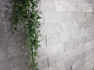 Decorative Quartzite Stone Silver Grey Brick 10x30  (1)