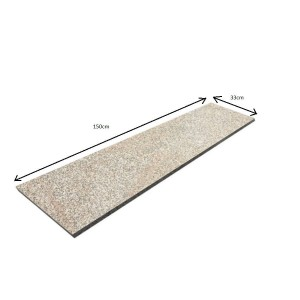 Flamed Granite Step - Beige G682 150x33x2