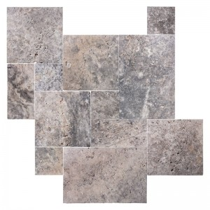 Travertine Tile Ash Antic Roman Opus