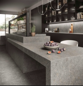 Large Format Porcelain Slab Atlas Plan Natura-Body Tech Dolmen Pro Grigio 324x162x2cm