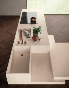 Large Format Porcelain Slab Atlas Plan Kone  Gypsum 324x162x1,2cm