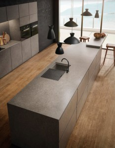 Large Format Porcelain Slab Atlas Plan Natura-Body Tech Kone Grey 324x162x1,2cm
