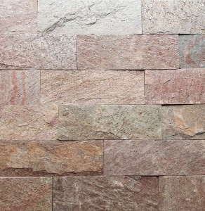 Decorative Quartzite Stone Copper Brick 10x30