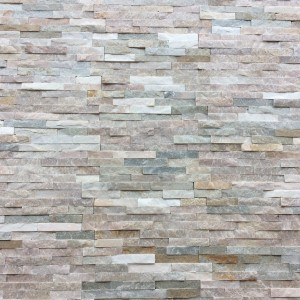 Decorative Quartzite Stone - Beige and Grey - 10x40
