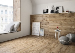 Wood-like porcelain tile Relax Teakato 120X20 Gat.II