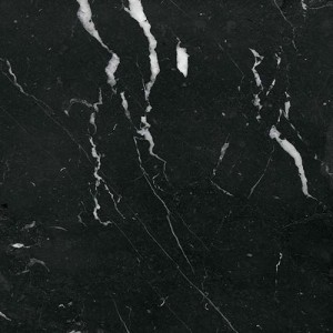 Polished marble tile Negro Marquina 60x60x2cm