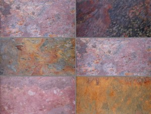 Natural Slate Tile Kund Multicolor 60x30x1,2 cm