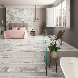 Porcelain tile Expressions Grey High Honed 89,46x89.46cm