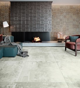 Porcelain tile Expressions Ice High Honed 89,46x89.46cm
